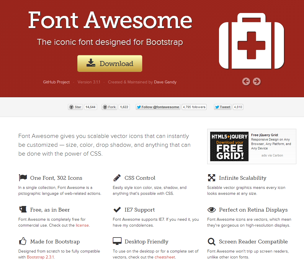 font awesome css file download