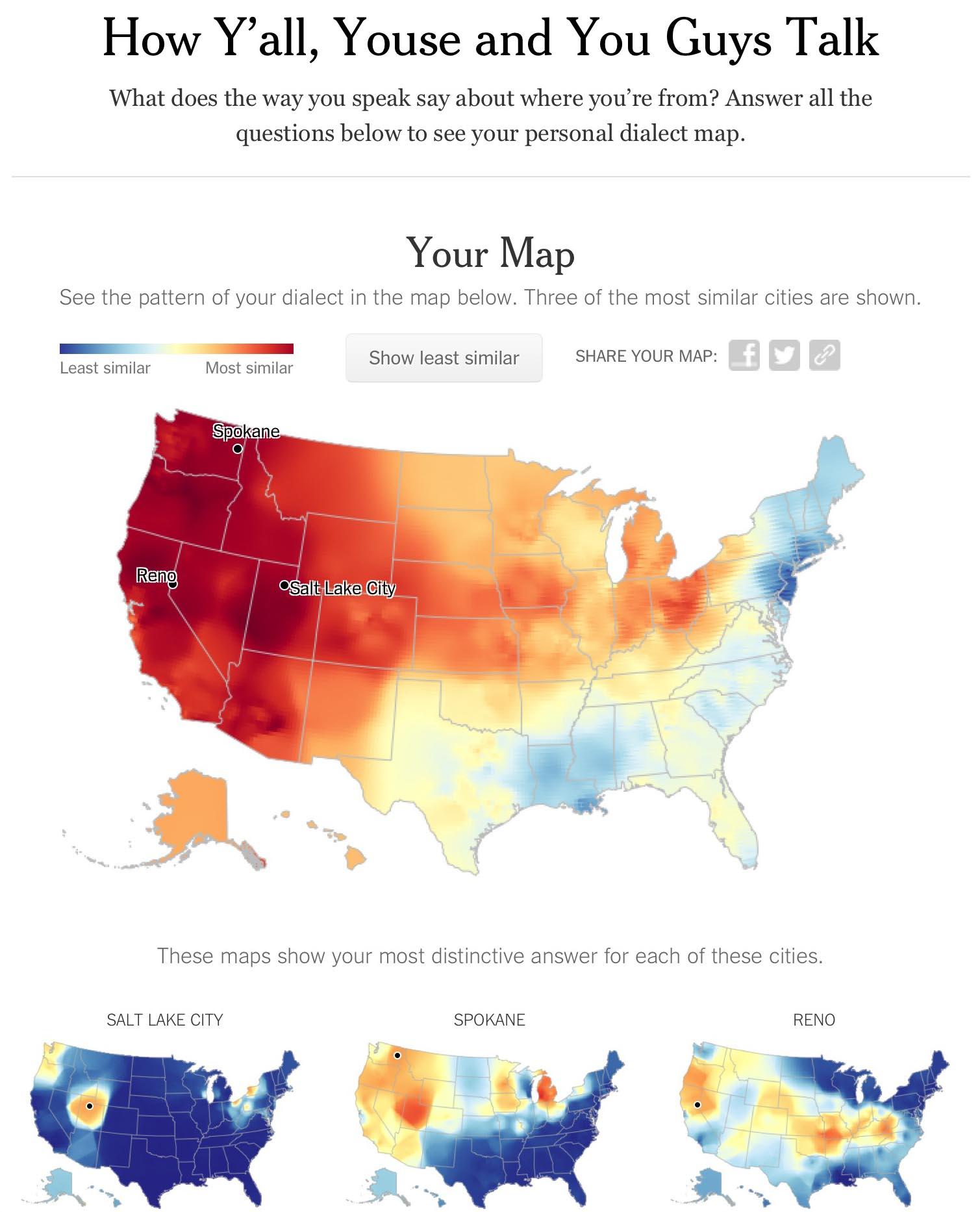 My Nytimes Dialect Quiz Map Mike Kennewick - Us dialect map quiz